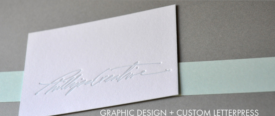 graphic design and custom letterpress